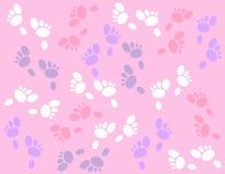 背景兔宝宝复活节脚印 免版税库存照片