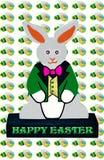 背景兔宝宝愉快的复活节 库存图片