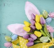 背景兔宝宝耳朵复活节查出的白色 免版税库存照片