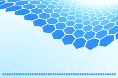 背景六角形 向量例证