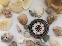 背景关于海上的假日在有compa的温暖的国家 图库摄影