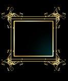 背景典雅的框架金子 免版税库存照片