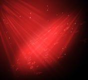 背景典雅的红色星形 免版税库存图片