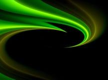 背景典雅的绿色波浪 库存照片