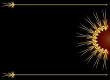 背景典雅的金子 免版税库存图片