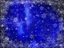 背景冻结的圣诞节框架 免版税图库摄影