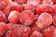 背景冻结的草莓 图库摄影