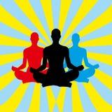 背景凝思瑜伽 免版税库存照片