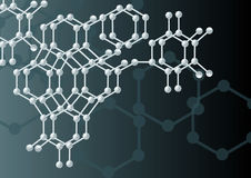 背景分子 库存例证