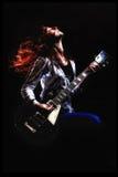 背景分数维女孩吉他岩石 图库摄影