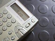 背景剪报查出的路径无线电接收机白色 免版税库存图片