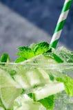 背景剪报鸡尾酒查出的mojito路径白色 免版税图库摄影