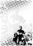 背景加点motocycle海报 库存例证