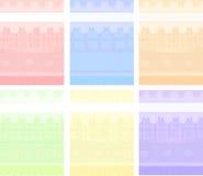 背景动画片集合向量 免版税库存图片