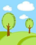 背景动画片风格化结构树 皇族释放例证