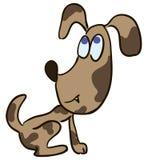 背景动画片例证小狗白色 免版税库存照片