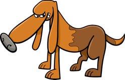 背景动画片设计狗例证 免版税图库摄影