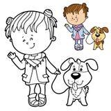 背景动画片设计狗例证 库存照片