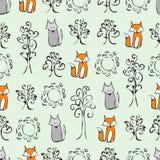 背景动画片逗人喜爱的动物 免版税库存照片