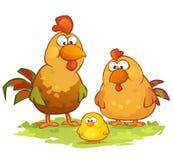 背景动画片鸡例证白色 库存照片