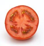 背景半蕃茄白色 免版税库存照片