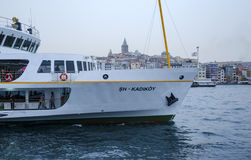 背景博斯普鲁斯海峡galata船塔 免版税库存照片