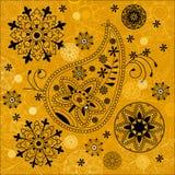背景印度装饰品无缝的佩兹利 图库摄影