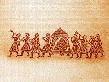 背景印第安婚礼 免版税库存图片