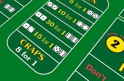 背景双骰儿赌博 向量例证