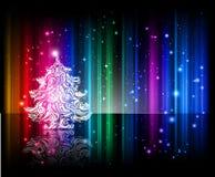 背景发光的圣诞夜 免版税库存照片