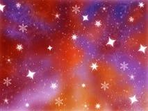 背景发光的星形 免版税图库摄影
