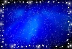 背景发光的星形 免版税库存图片