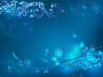 背景发光的漩涡 免版税图库摄影