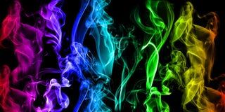背景发光的烟 免版税库存图片