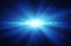 背景发光的蓝色 免版税库存图片