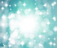 背景发出光线星形