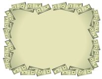 背景发单美元货币 图库摄影