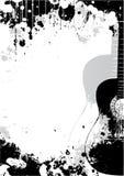 背景古典吉他海报 库存例证