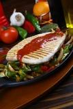 背景另外内圆角鱼食物图象系列白色 免版税库存照片
