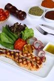 背景另外内圆角鱼食物图象系列白色 库存图片