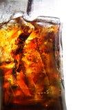 背景可乐玻璃查出的白色 库存照片
