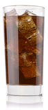 背景可乐玻璃查出的白色 免版税库存照片