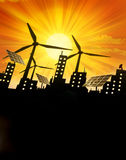 背景可延续能源的绿色 图库摄影
