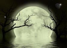 背景可怕幻想的月亮 库存图片