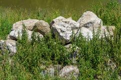 背景可能堆积使用的石头 图库摄影