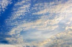 背景可能生动描述使用的天空纹理 免版税图库摄影