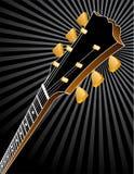 背景吉他床头柜 免版税库存照片