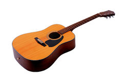 背景吉他查出的白色 免版税库存照片
