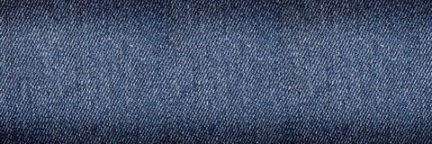 背景和设计的水平的经典牛仔裤纹理 免版税库存图片