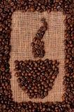 背景咖啡准备好的使用 免版税库存图片